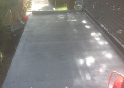 Re-felt flat roof complete