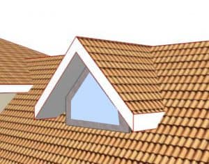 Gable fronted dormer