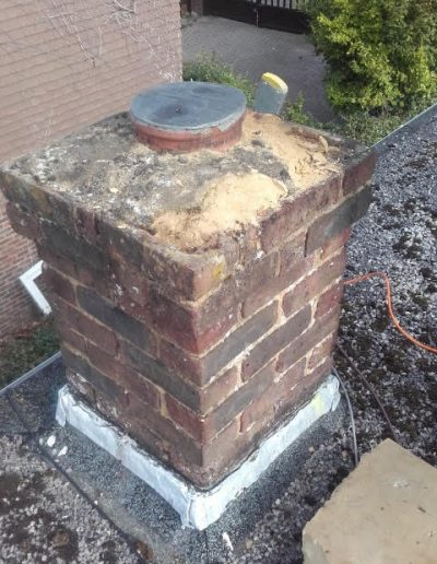 Chimney before repointing March 2020