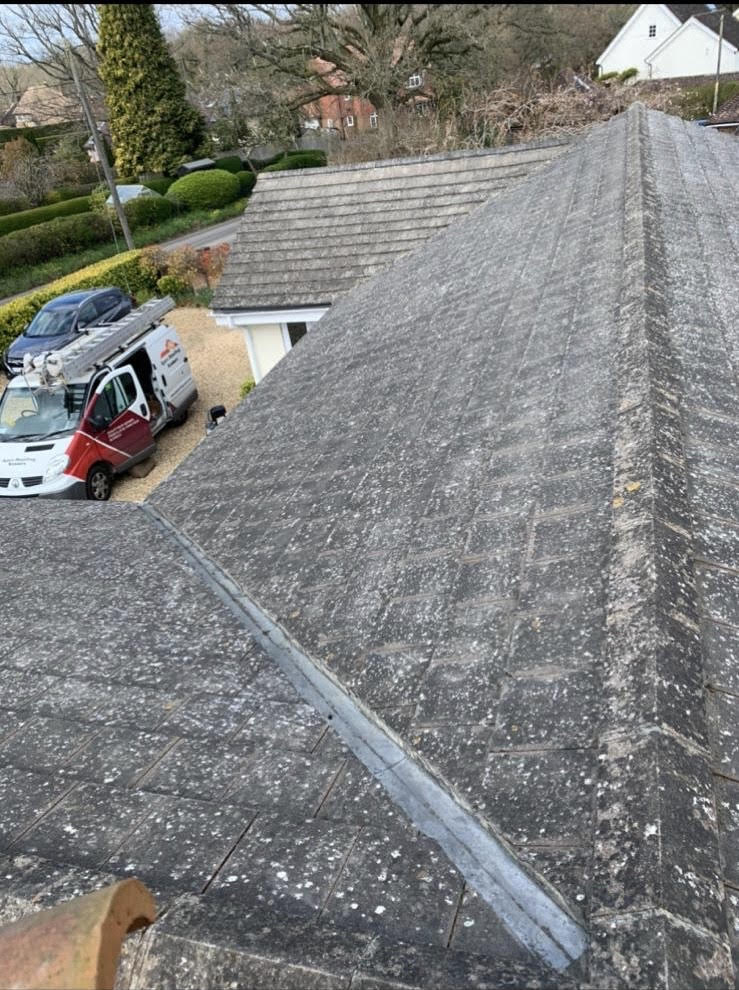 Roof after being cleaned by Apex Roofing