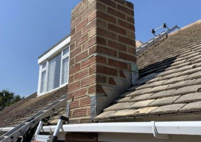 Chimney Work With New Lead Flashing