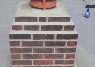 Recently Repointed Chimney in Worthing
