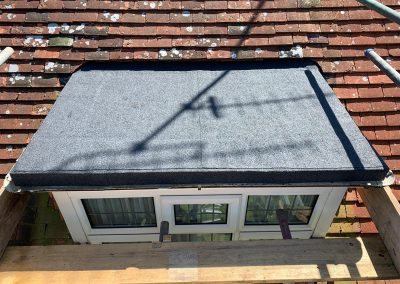 Completed Flat Roof Project in April 2020